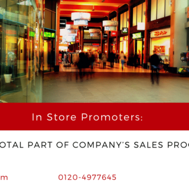 In-Store Promoters: A Pivotal part of company's sales process.